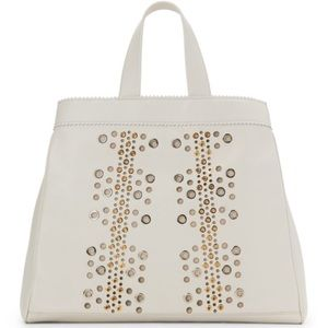 New Tamara Mellon Grommeted Nappa Leather Tote